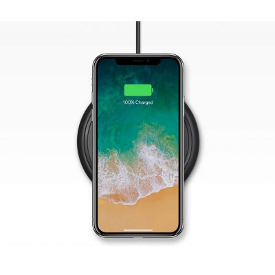 Mophie Qi Wireless Charge Pad for iPhone 8/8 Plus, iPhone X (7.5W) - Black
