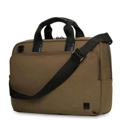 Knomo Maxwell 15 Slim Briefcase - Deep Army