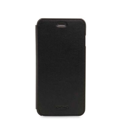 Knomo Leather Folio for iPhone 7 Plus - Black