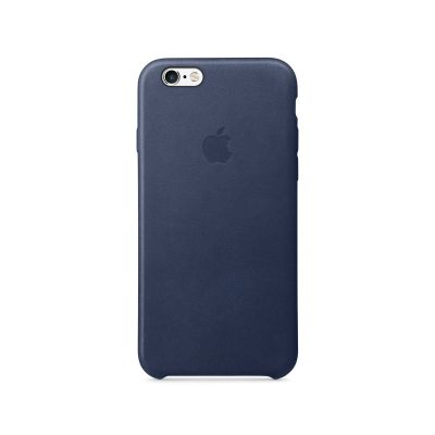 Apple - iPhone 6s Leather Case - Midnight Blue