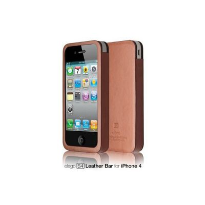 Elago - S4 Handmade Genuine Leather case for iPhone 4/4s - Brown