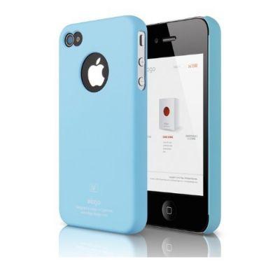 Elago - S4 SLIMFIT case for iPhone 4/4s - Soft Pastel Blue