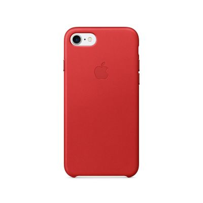 Apple - iPhone 7 Leather Case - (PRODUCT)RED