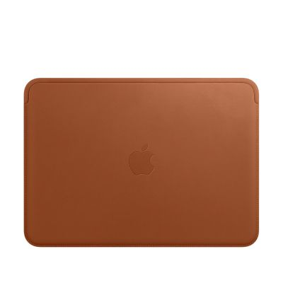 """Apple Leather Sleeve for 12"""" MacBook - Saddle Brown"""