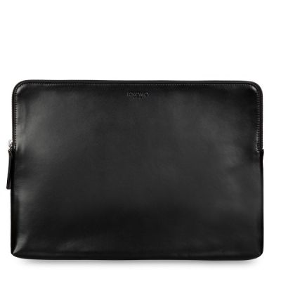 "Knomo Laptop Leather Zip Sleeve for MacBook Pro 15"" - Black"